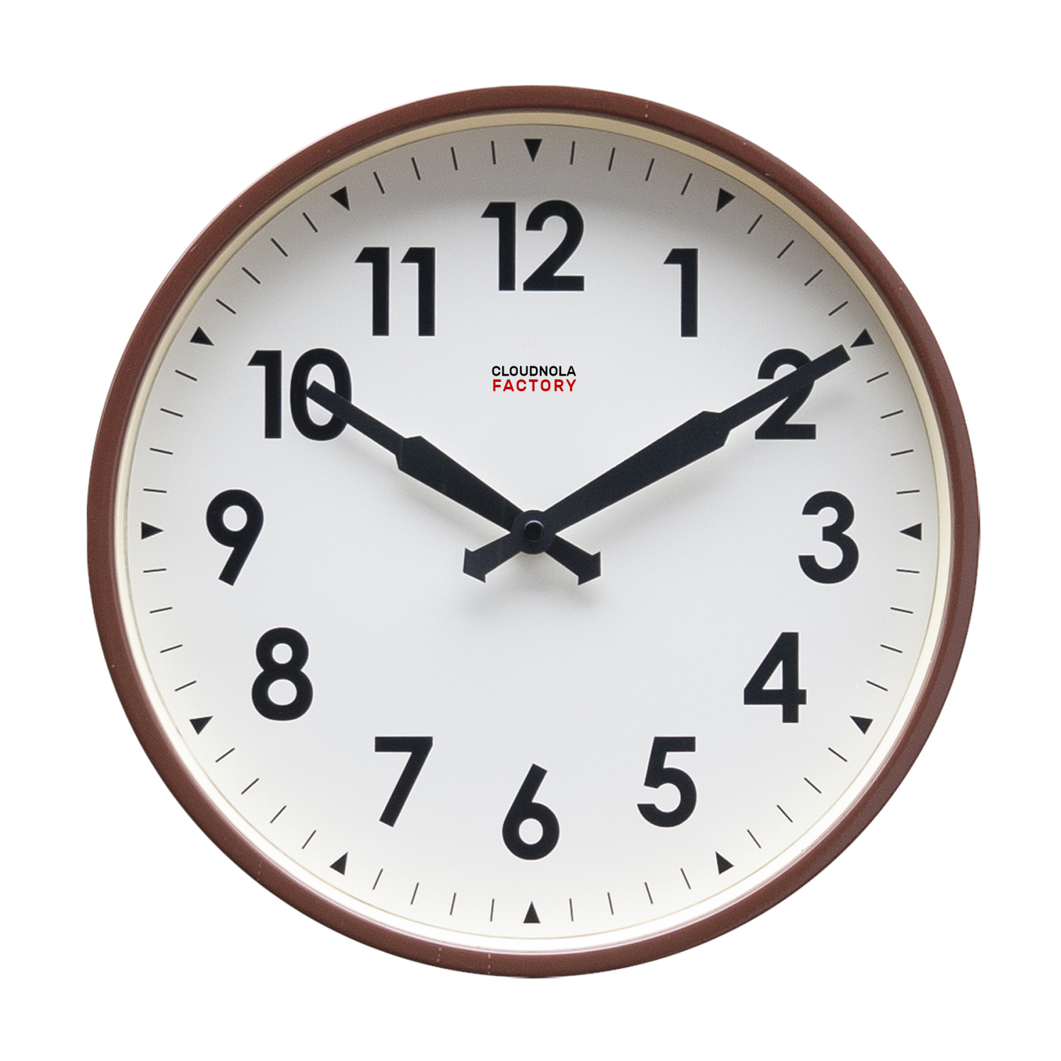 Cloudnola Factory Railway clock 30cm Brown Arabic